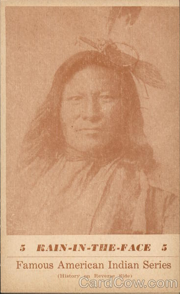 Famous American Indian Series - Rain In The Face Native Americana