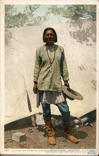 Al-Che-Say White Mountain Apache Scout Under General Crook