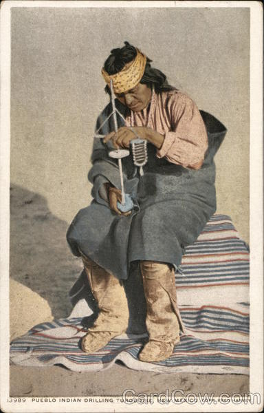 Pueblo Indian DrillingTurquoise, New Mexico Native Americana