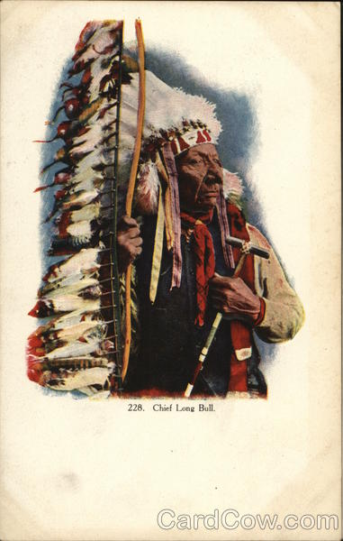 Chief Long Bull Native Americana