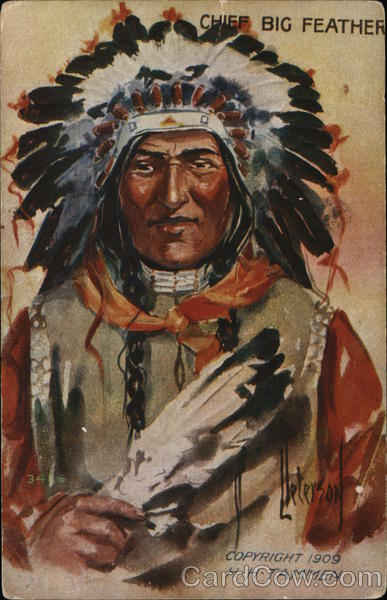 Chief Big Feather H. H. Tammen Native Americana