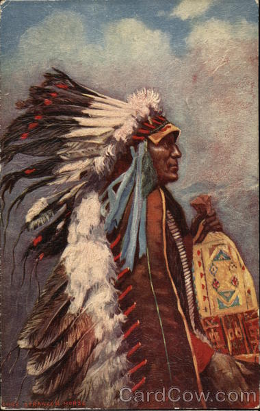 Chief Stranger Horse Native Americana