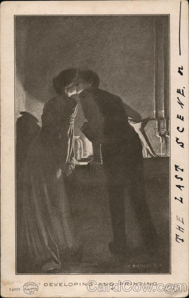 Developing and Printing - Man and Woman Kissing In Dark Room