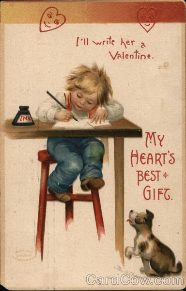 I'll write her a Valentine Ellen Clapsaddle Children