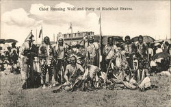 Chief Running Wolf and Party of Blackfoot Braves