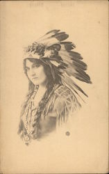 Photo of Woman in Indian Headress