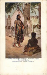 Yellept Indian Chief Counciling the Tribes to Meet Lewis and Clark