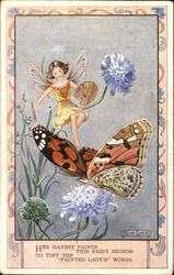 A Fairy with Paint Palette and Butterfly