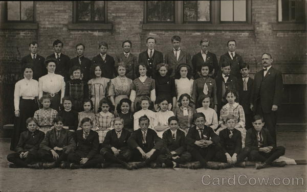8th Grade Class Photo - 23rd District School, Milwaukee, Wisconsin