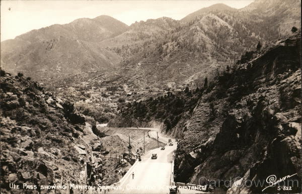 Ute Pass Showing Manitou Springs In Distance Colorado