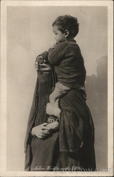 Native Egyptian Woman with Child