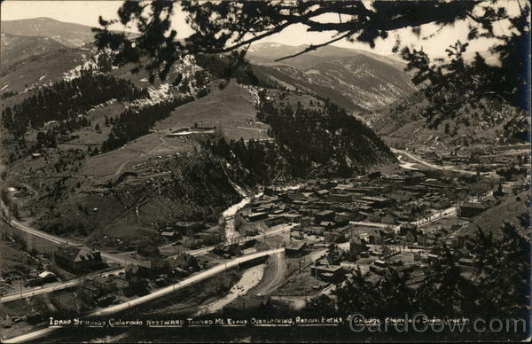 Aerial View of Town and Valley Idaho Springs Colorado