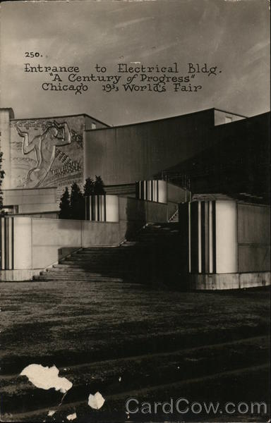 Entrance to Electrical Building Chicago Illinois 1933 Chicago World Fair
