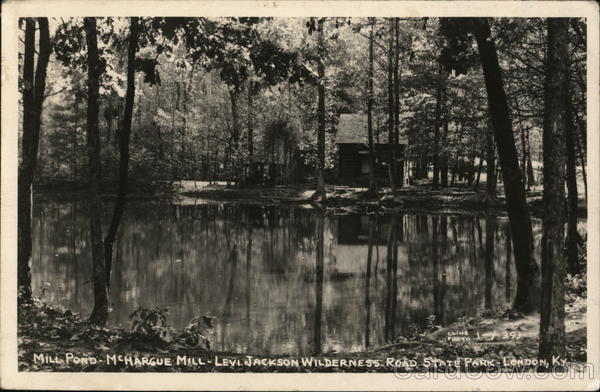 Mill Pond, McHargue Mill Levi Jackson Wilderness Road State Park London Kentucky