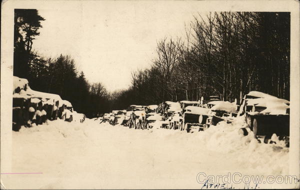 Wood Pile in the Snow Atwell New York