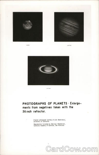 Photographs of Planets - Mars, Jupiter and Saturn Astronomy