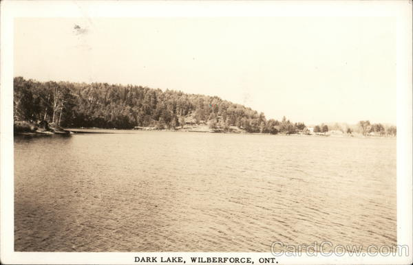 Dark Lake Wilbeforce Canada Ontario
