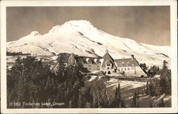 Timberline Lodge with Mount Hood in Background