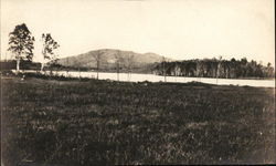 Labrador Pond with Ragged Mountain in Distance Postcard