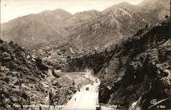 Ute Pass Showing Manitou Springs In Distance