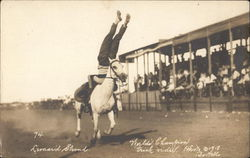 Leonard Stroud, World's Champion Trick Rider