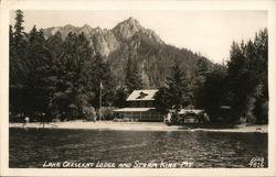 Lake Crescent Lodge and Mount Storm King