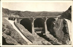 Coolidge Dam From Highway 60 - 70 Postcard
