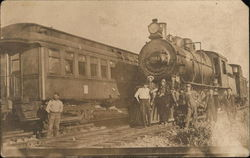 "Railroad Workers and ""703"" Locomotiive"