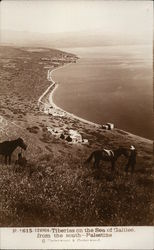 Tiberias on the Sea of Galilee, from the south--Palestine