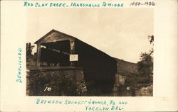 Red Clay Creek, Marshall's Bridge, Demolished 1936