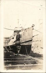 French Steamer in Drydock