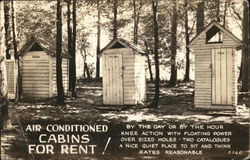 "Outhouses - ""Air Conditioned Cabins For Rent!"""