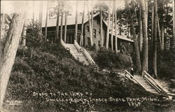 Douglas Lodge, Steps Leading to Lake, Itasca State Park