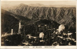Air View Mt. Wilson Observatory Postcard