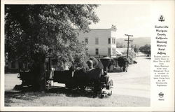 View of Coulterville, Mariposa County Showing Historic Hotel Jeffrey, Engine, Hangman Tree