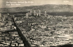 San Francisco - Oakland Bay Bridge from Twin Peaks