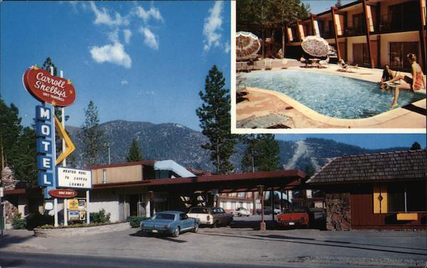 Lake Tahoe Hotels >> Carroll Shelby's Sky Terrace Motel South Lake Tahoe, CA Postcard