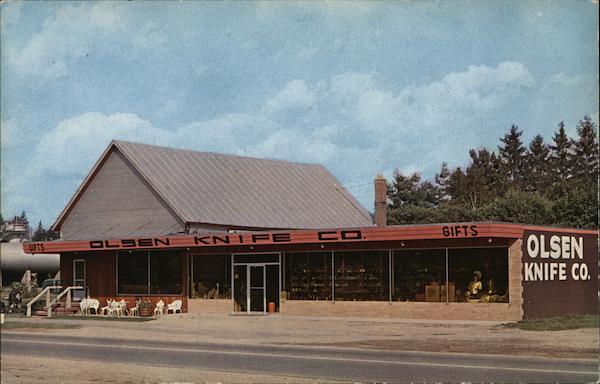 The Olsen Knife Company Howard City Mi Postcard