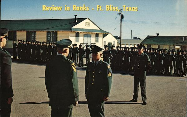 Review in Ranks, Recruit Training Program Fort Bliss Texas