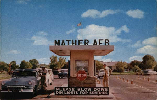 Main Entrance Gate, Mather Air Force Base Mather Field California