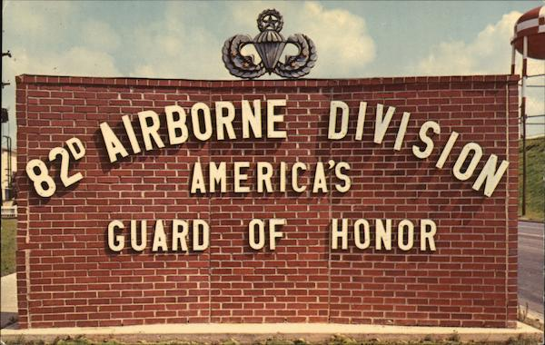 82nd Airborne Division Sign Fort Bragg North Carolina