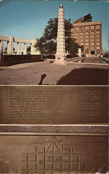 John Fitzgerald Kennedy Memorial Plaque Dallas Texas