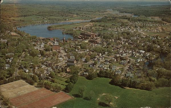 Aerial View Exeter New Hampshire