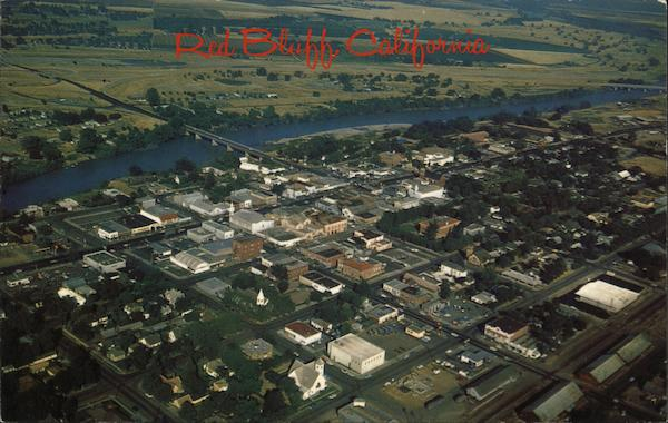 Aerial View Red Bluff California Mike Roberts