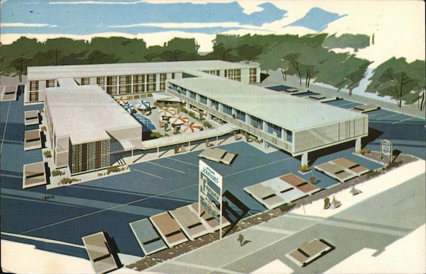 Howard Johnson 39 S Motor Lodge Fenway Boston Ma Postcard