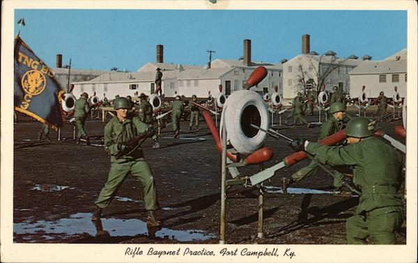 Rifle Bayonet Practice Fort Campbell Kentucky L. D. Thompson