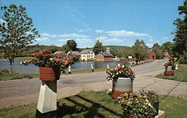 A Pleasing Approach to the Picturesque Village Harrisville New Hampshire