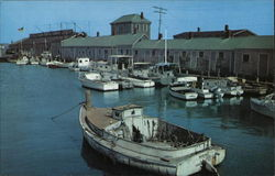 Scallop Boats at Straight Wharf, Nantucket Island
