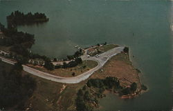Aerial View of Concession Stand and Boat Dock, Little Grassy Lake
