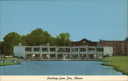 Zion Public Memorial Library and Recreation Center Postcard